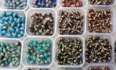 Colorful stud earrings