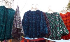 Colorful women's skirts