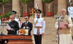Shri Narendra Modi taking oath of PM