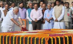 PM-designate Modi at Rajghat
