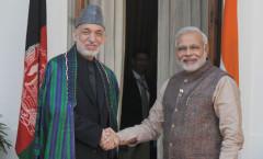PM Modi & Afghan President Hamid Karzai
