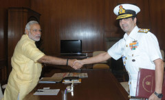 PM Modi meeting Admiral Dhavan