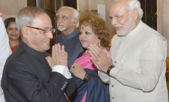 President Pranab Mukherjee & PM Modi