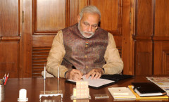 Sh. Modi taking charge of PM Office